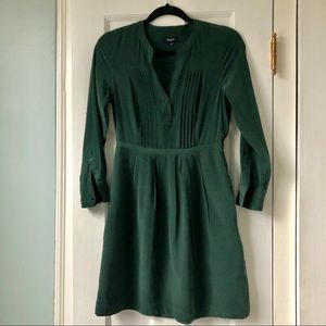 Madewell silk long sleeved dress